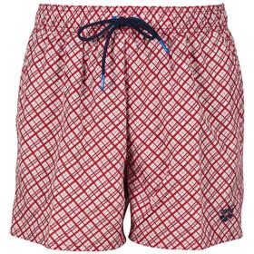 arena Fundmentals Allover Shorts Men, rojo/blanco